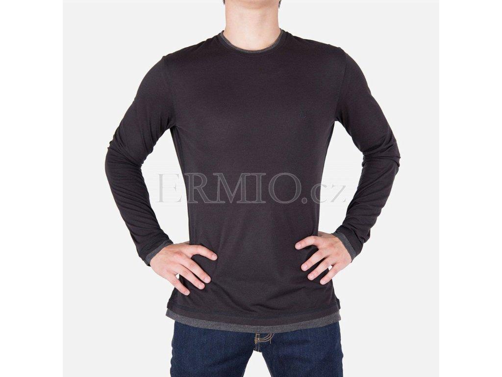 47228fc65fc Luxusní Stylové pánské černé tričko Armani Jeans v e-shopu   Ermio ...