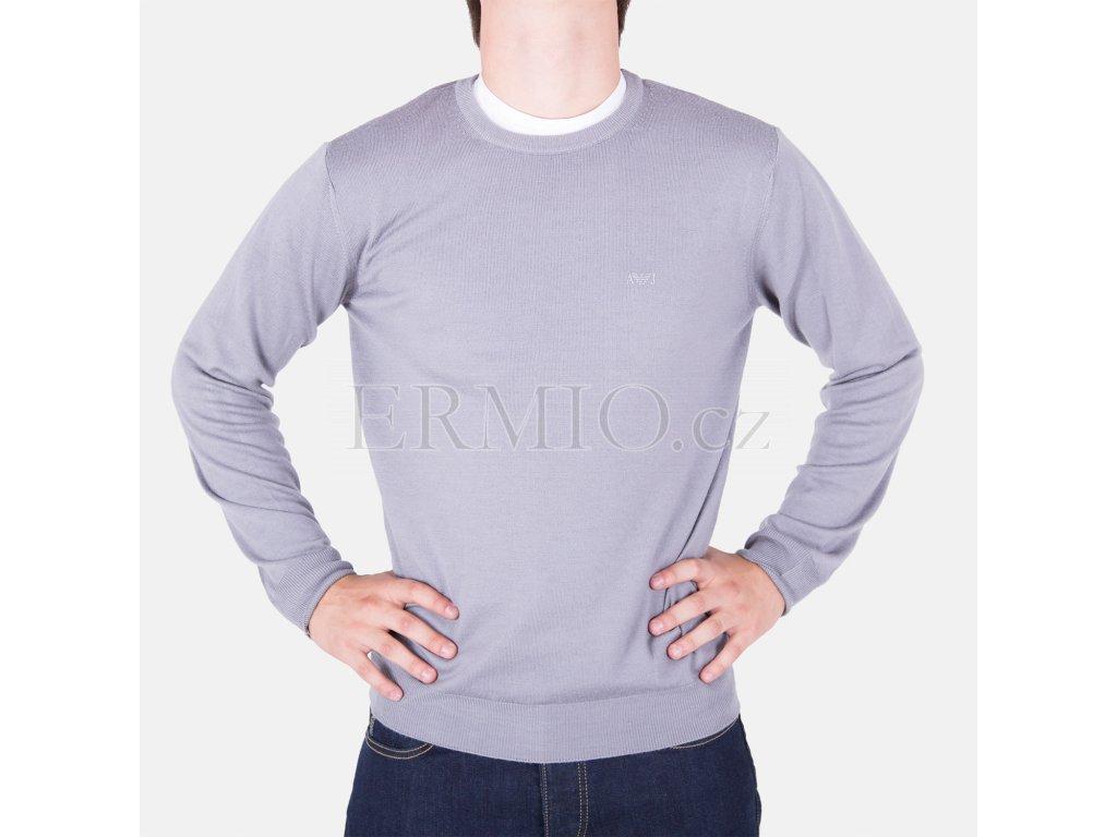 Elegantní pánský šedý svetr Armani Jeans