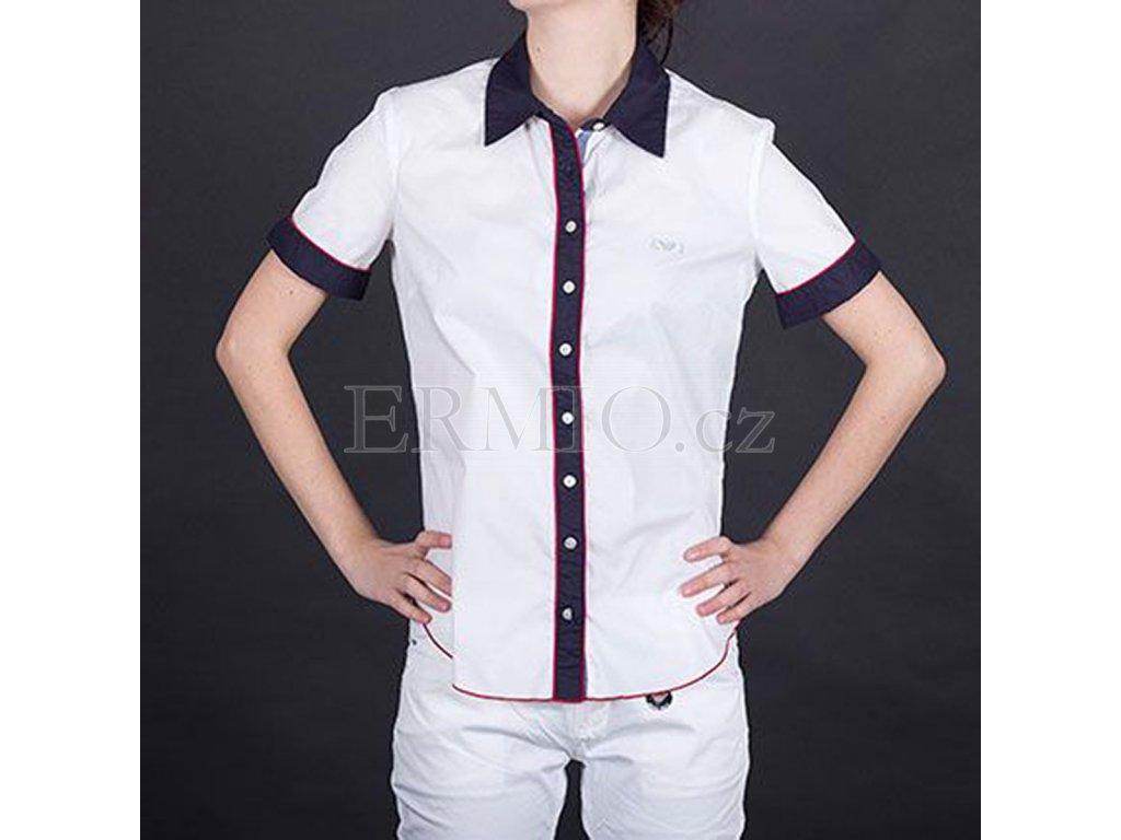 Luxusní Efektní dámská košile Armani bílá v e-shopu   Ermio Fashion a2a574ac0c