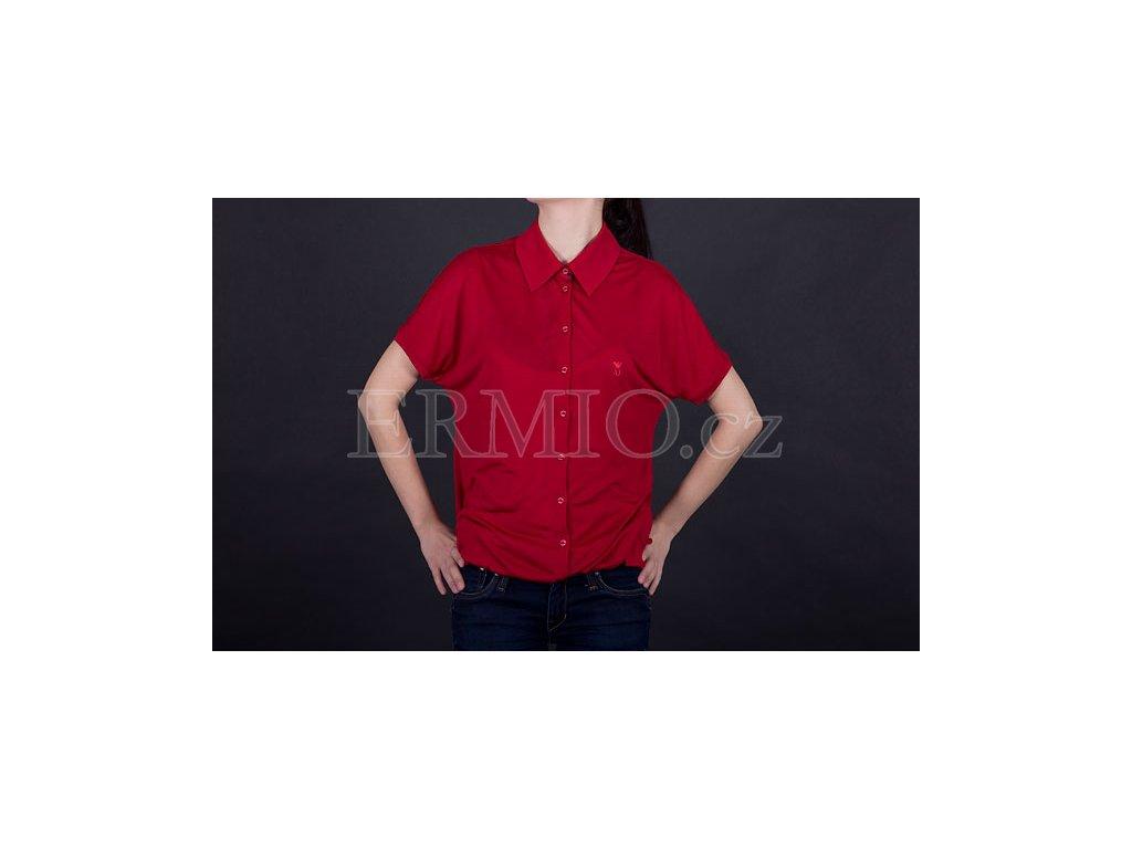 4be980a1131f Luxusní Trendové dámské tričko Armani červené v e-shopu   Ermio Fashion