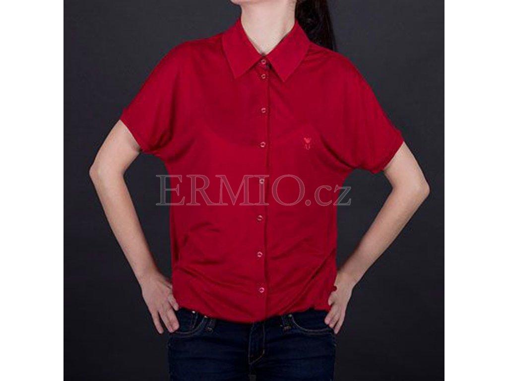 Trendové dámské tričko Armani červené