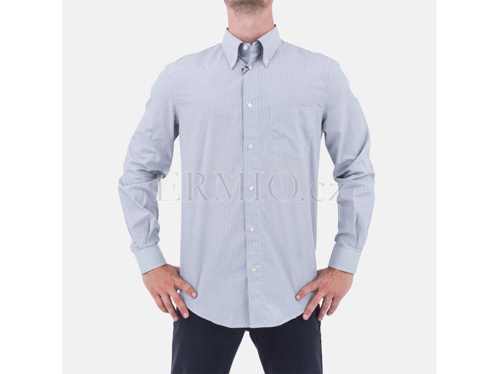 Košile Armani Jeans proužkovaná