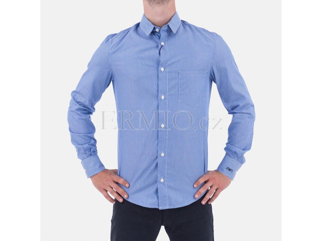 Košile Armani Jeans azurová