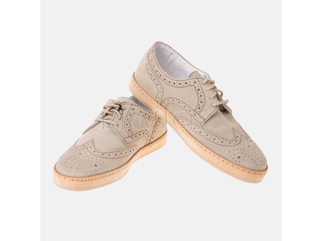 Krásné semišové boty Armani Jeans