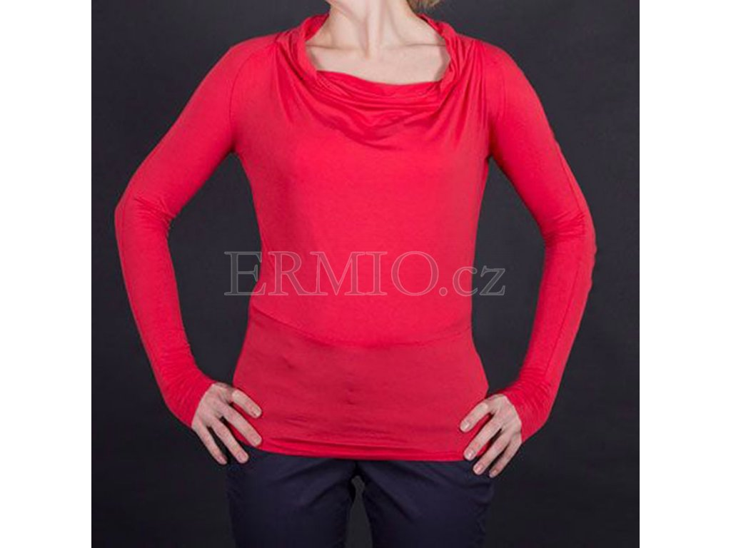 Elegantní tričko Armani červené