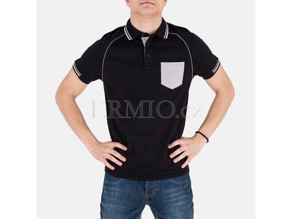 Černé polo Armani Jeans