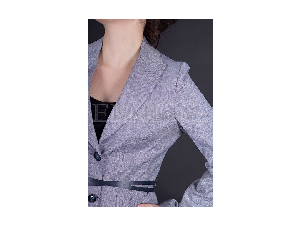 517b3ba690b7 Luxusní Stylové dámské sako Armani Jeans modré v e-shopu   Ermio Fashion