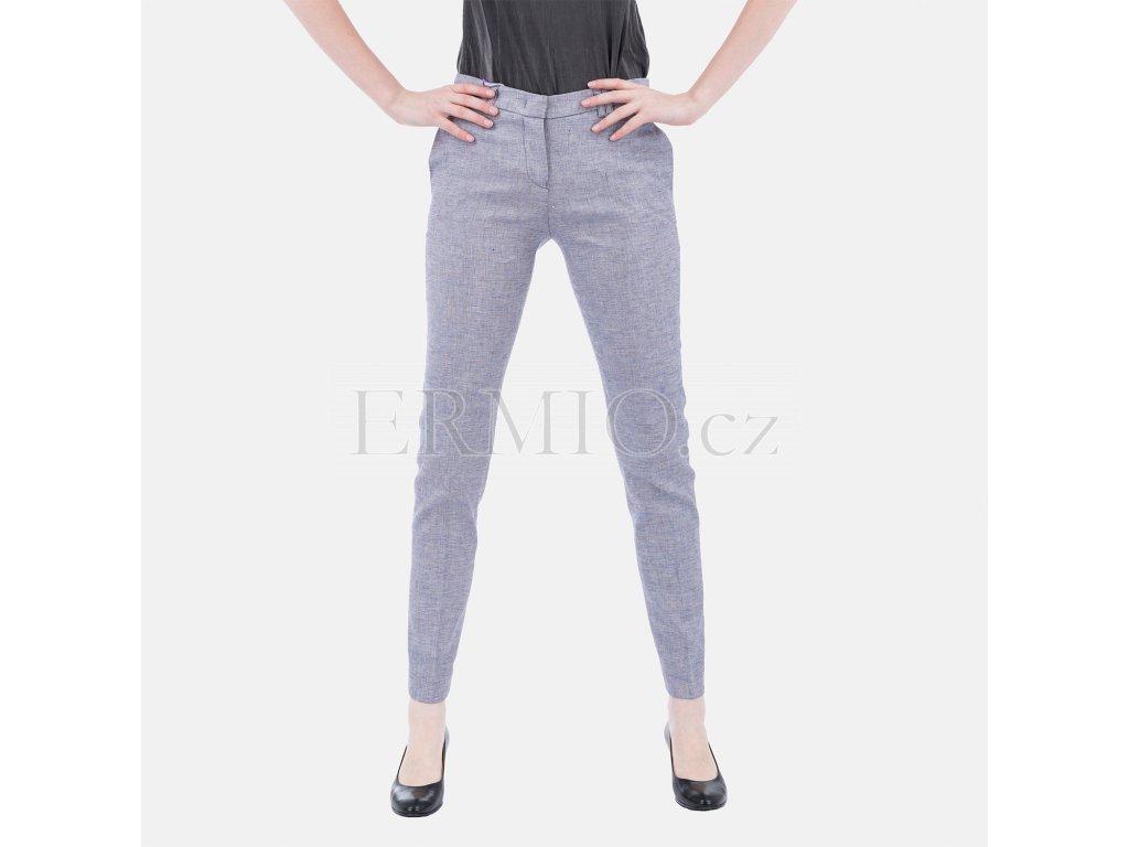 baf00c98869 Luxusní Elegantní dámské kalhoty Armani modré v e-shopu   Ermio Fashion