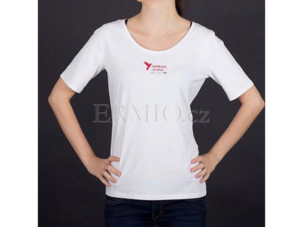 Nádherné dámské tričko Armani bílé
