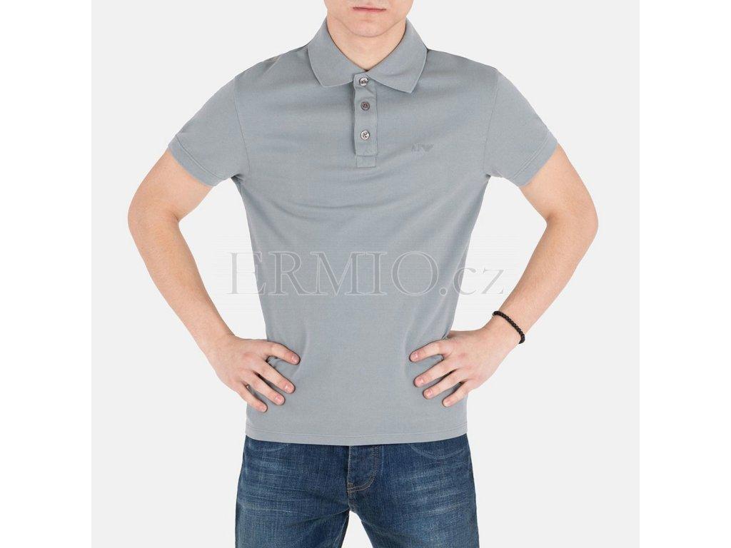 Pánské polo šedé Armani Jeans
