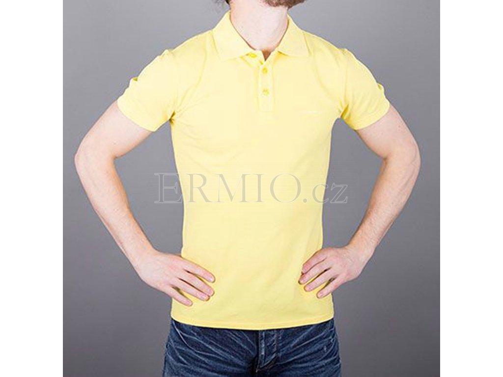 Polo tričko pánské AJ žluté