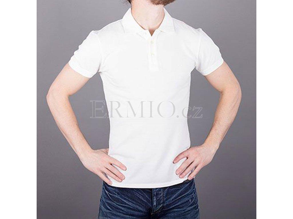 Pánské polo tričko Armani Jeans krémové