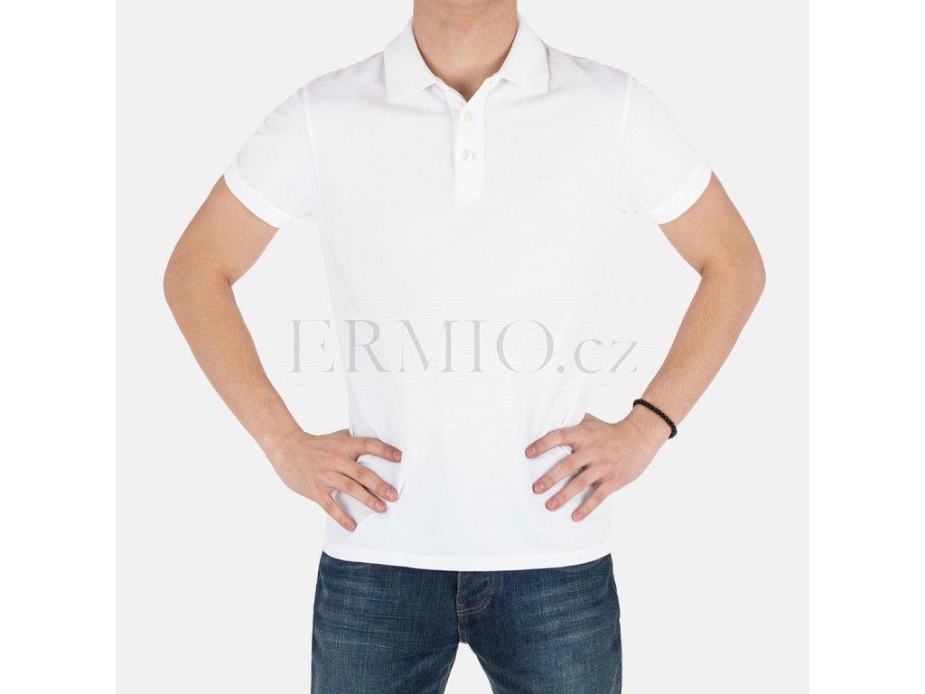 Bílé polo Armani Jeans