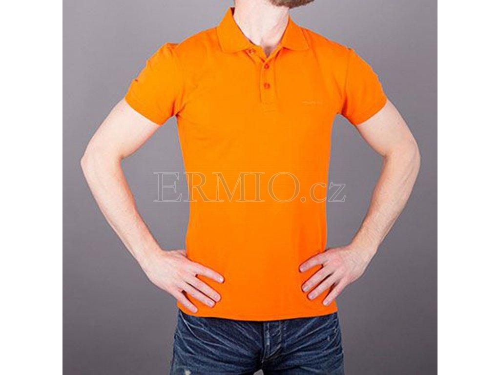 f9853d98714b Luxusní Polo pánské Armani Jeans oranžové v e-shopu   Ermio Fashion