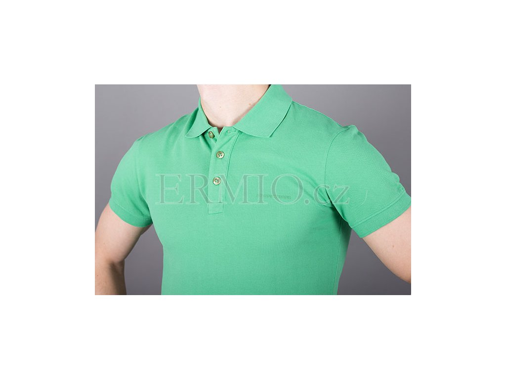c2fbed845ed3 Luxusní Pánské polo tričko Armani Jeans zelené v e-shopu   Ermio Fashion
