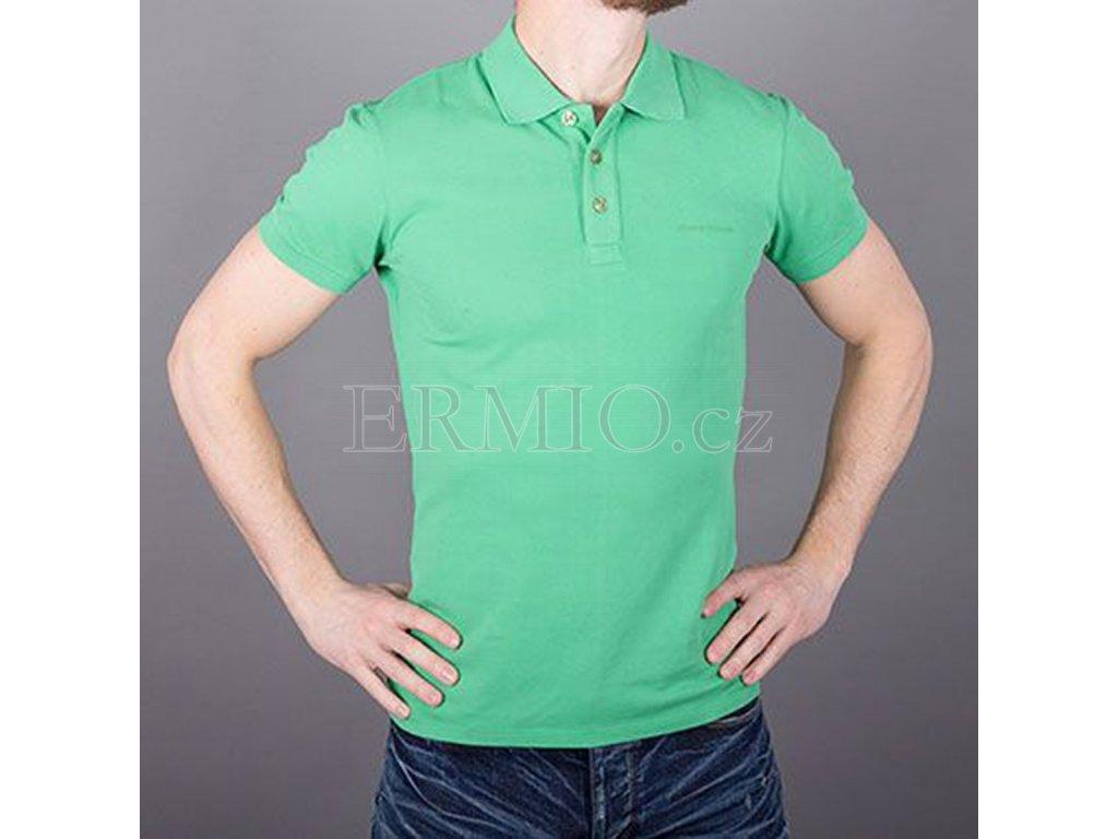 Pánské polo tričko Armani Jeans zelené