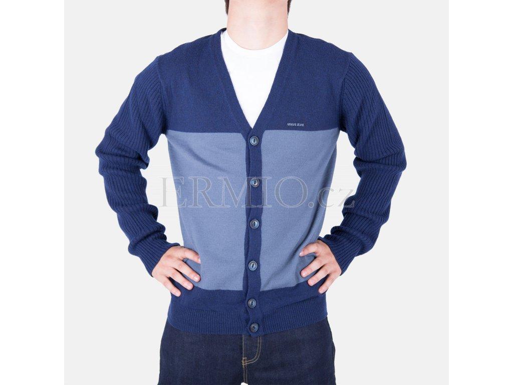 Nádherný pánský modrý svetr Armani Jeans