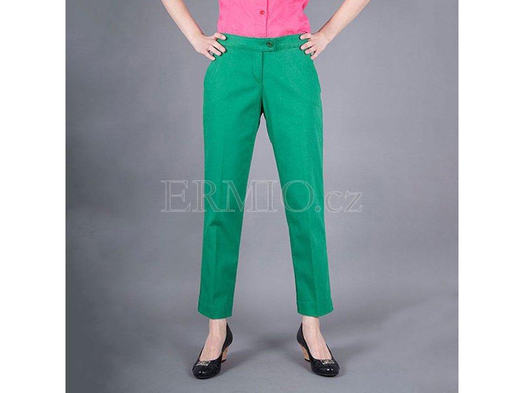 Stylové dámské kalhoty Armani Jeans zelené