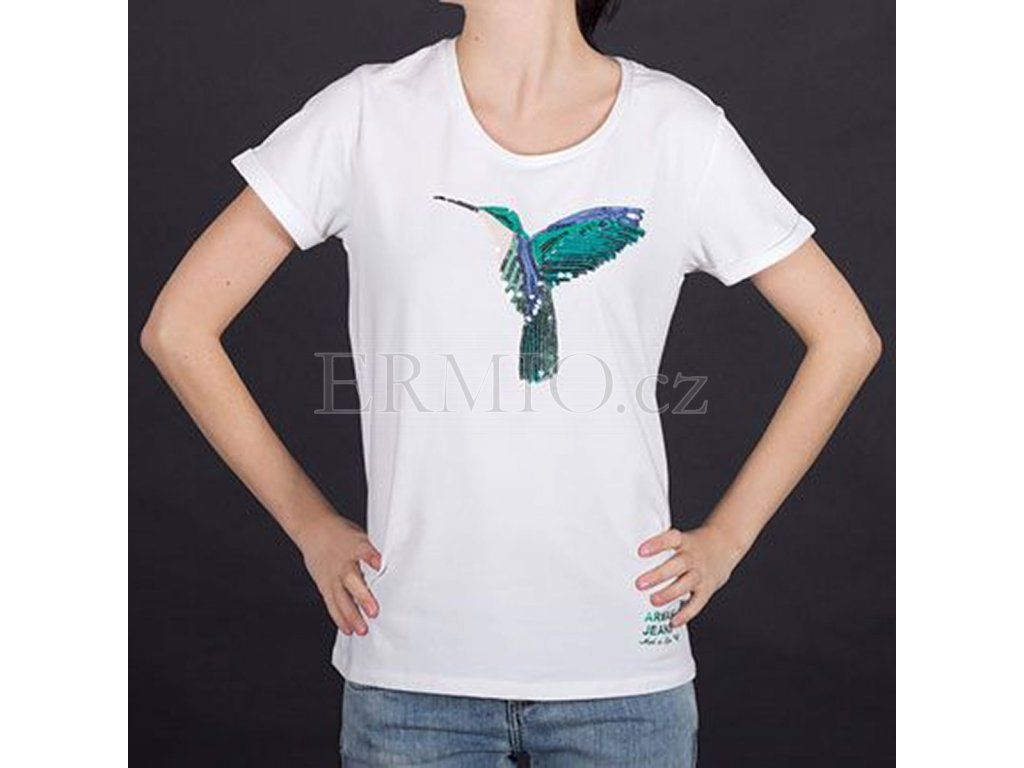 Značkové tričko Armani bílé
