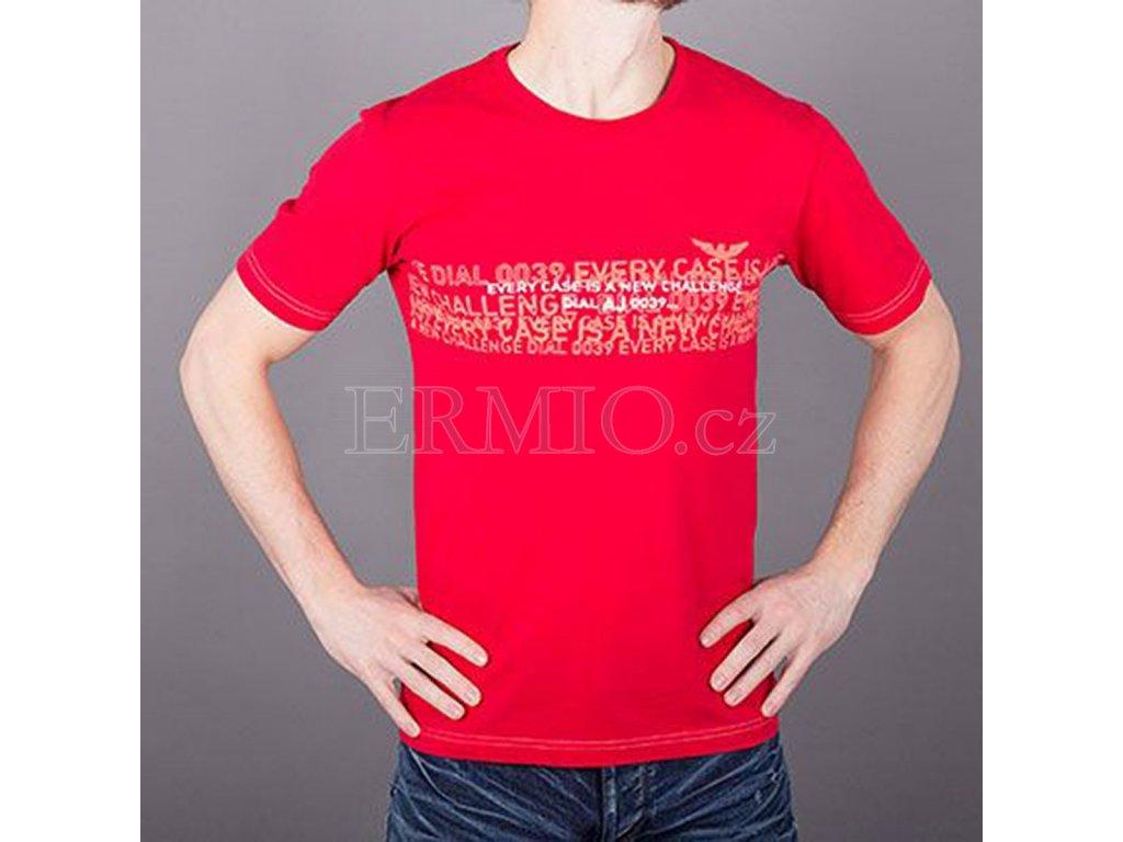 daa52149aca Luxusní Značkové pánské červené tričko AJ v e-shopu   Ermio Fashion