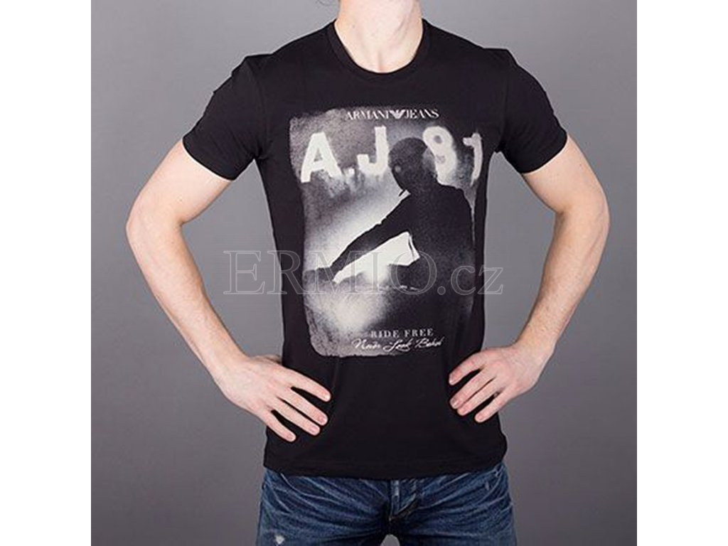 Luxusní Značkové pánské tričko Armani Jeans v e-shopu   Ermio Fashion c4b7f8e9fe