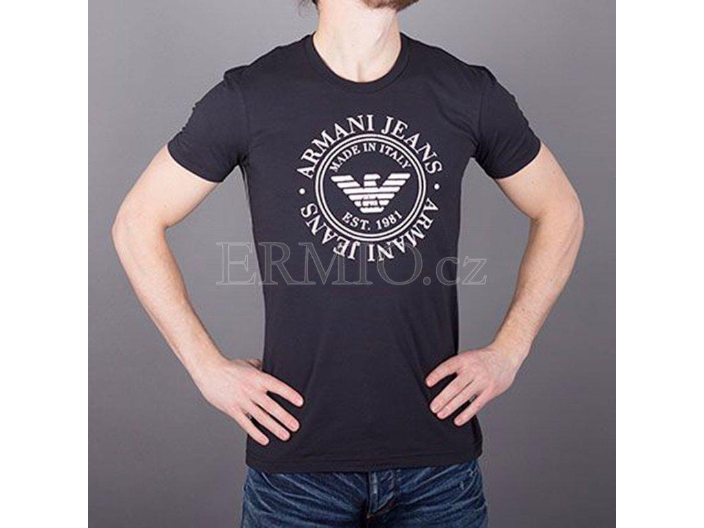 50bf1a2e4 Luxusní Tričko Armani Jeans modré pánské v e-shopu * Ermio Fashion