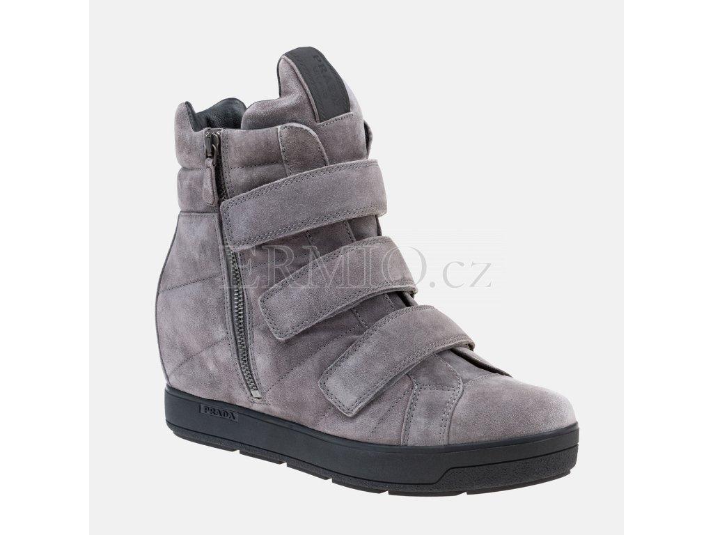 Dámské šedé boty PRADA