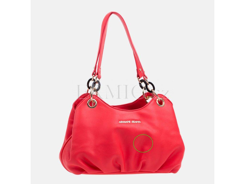 eaad75bd51 Luxusní Dámská červená kabelka Armani Jeans v e-shopu   Ermio Fashion