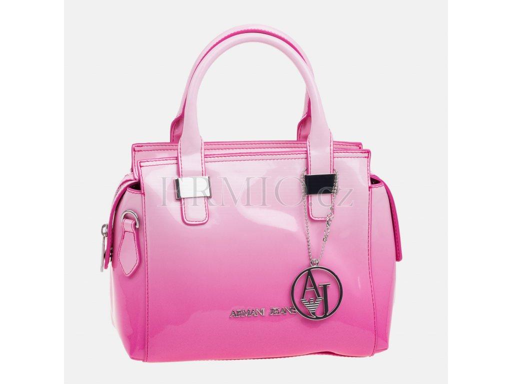 Luxusní Dámská růžová kabelka Armani Jeans v e-shopu   Ermio Fashion b4d54e8982