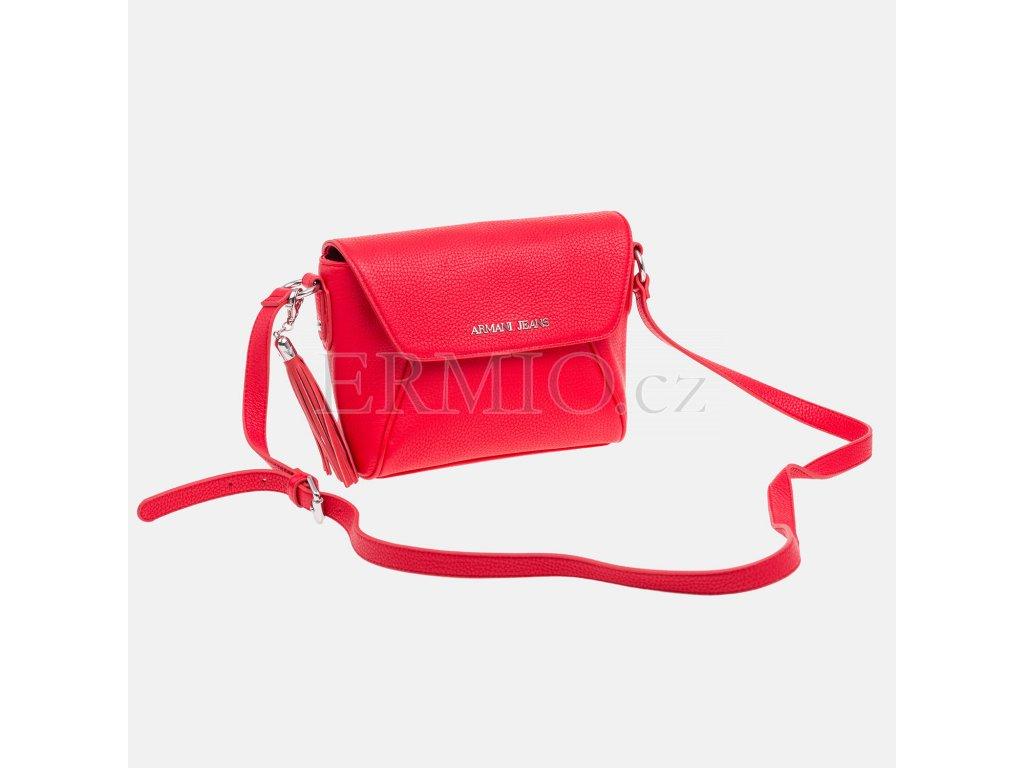 Luxusní Dámská červená kabelka Armani Jeans v e-shopu   Ermio Fashion 3a32dfdb66