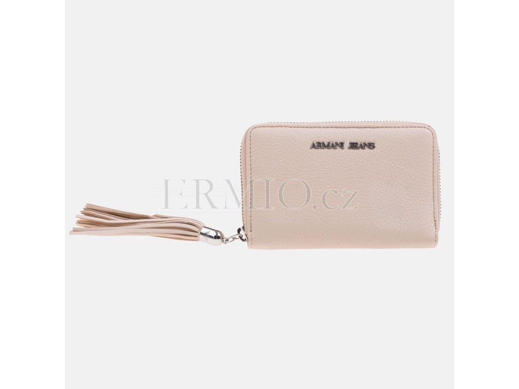 Luxusní Dámská béžová peněženka Armani Jeans v e-shopu   Ermio Fashion 50fc9a6f2b