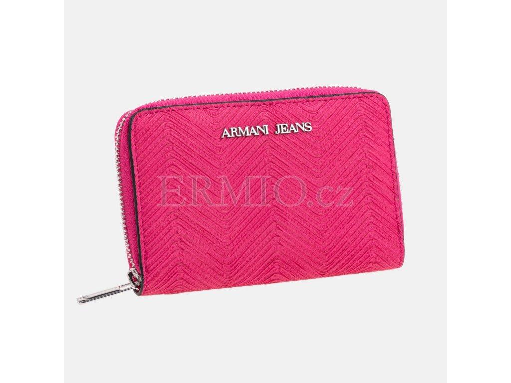 Luxusní Dámská růžová peněženka Armani Jeans v e-shopu   Ermio Fashion e4e41b3b39