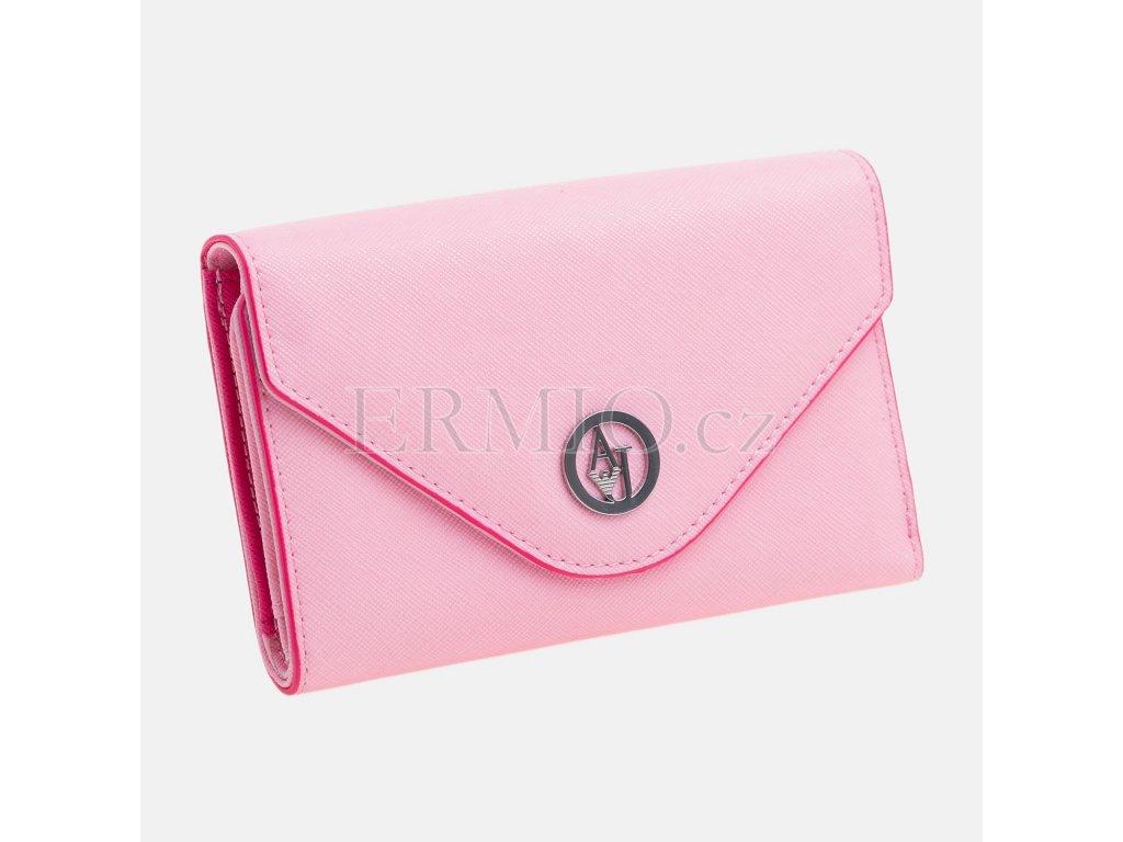Luxusní Dámská růžová peněženka Armani Jeans v e-shopu   Ermio Fashion 8e5f5d90f3