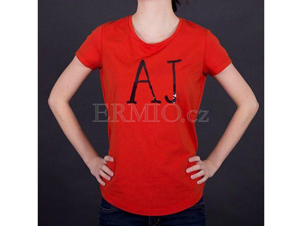 Luxusní dámské tričko Armani červené