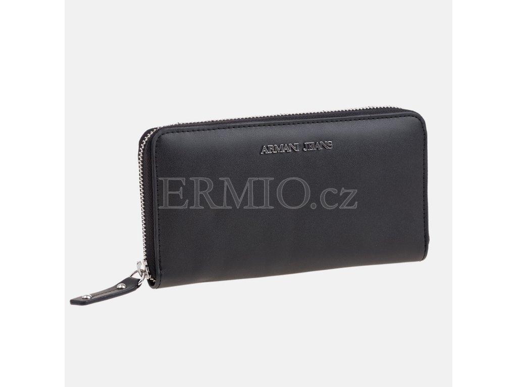 Luxusní Dámská černá peněženka Armani Jeans v e-shopu   Ermio Fashion 5cb26f6596