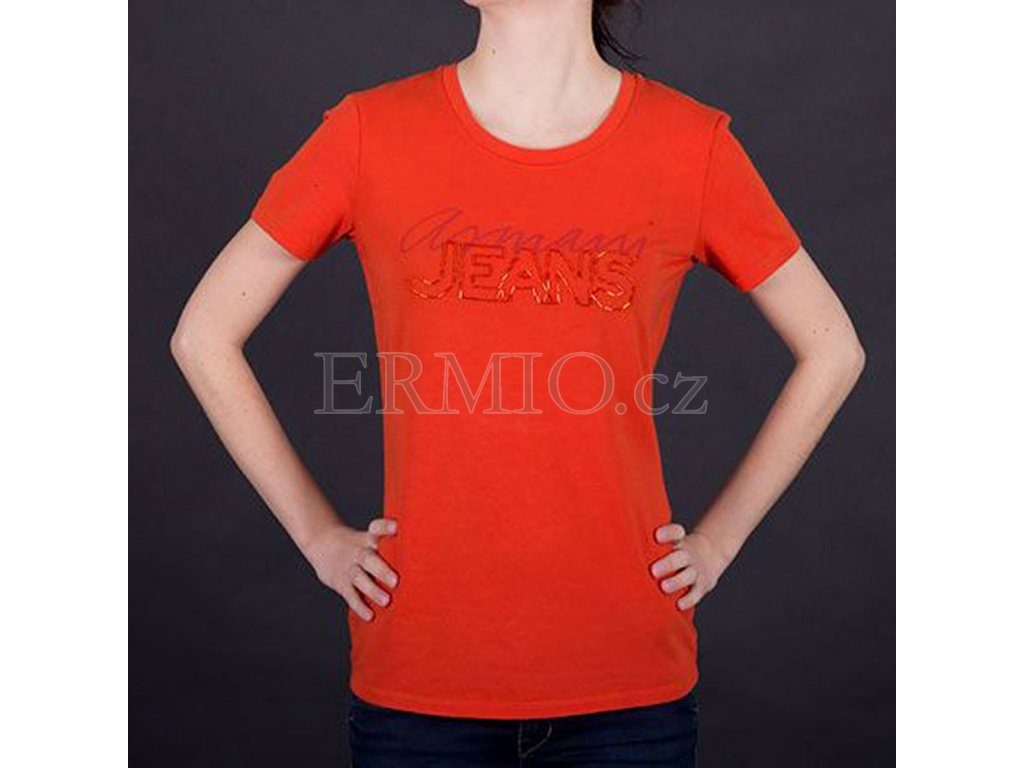 Tričko s korálky Armani oranžové