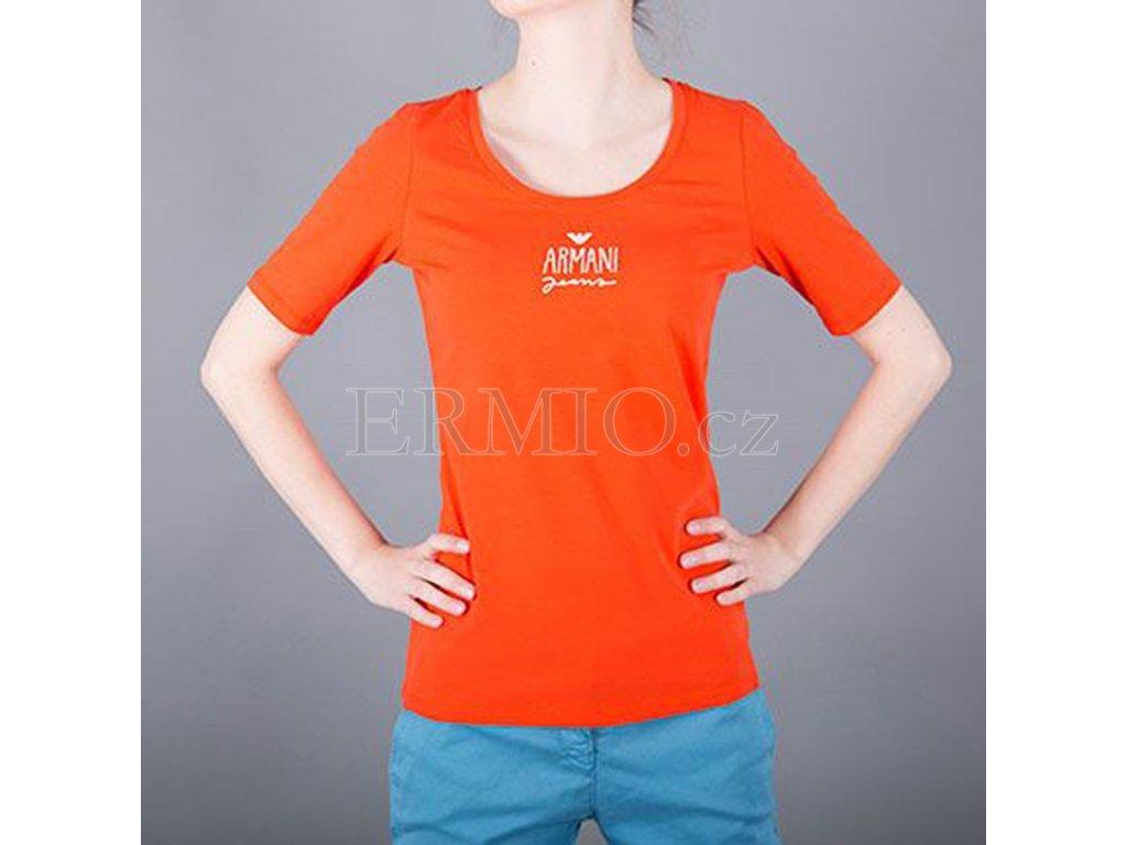 Tričko dámské Armani Jeans oranžové