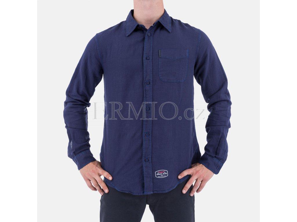 811d3472abe Luxusní Stylová pánská košile Armani Jeans tmavě modrá v e-shopu ...