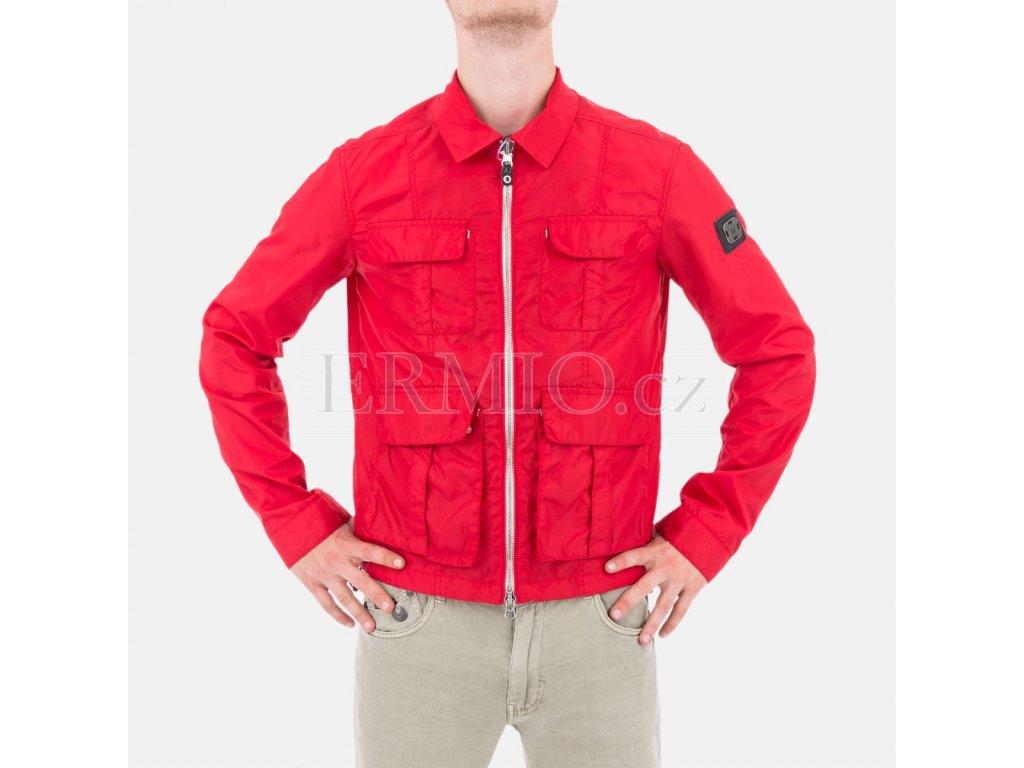 Luxusní Elegantní pánská jarní bunda Armani Jeans červená v e-shopu ... c433adf8eb