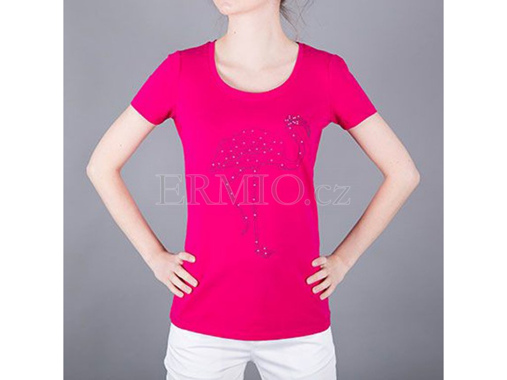 fb382934df Luxusní Růžové dámské tričko Armani Jeans v e-shopu   Ermio Fashion