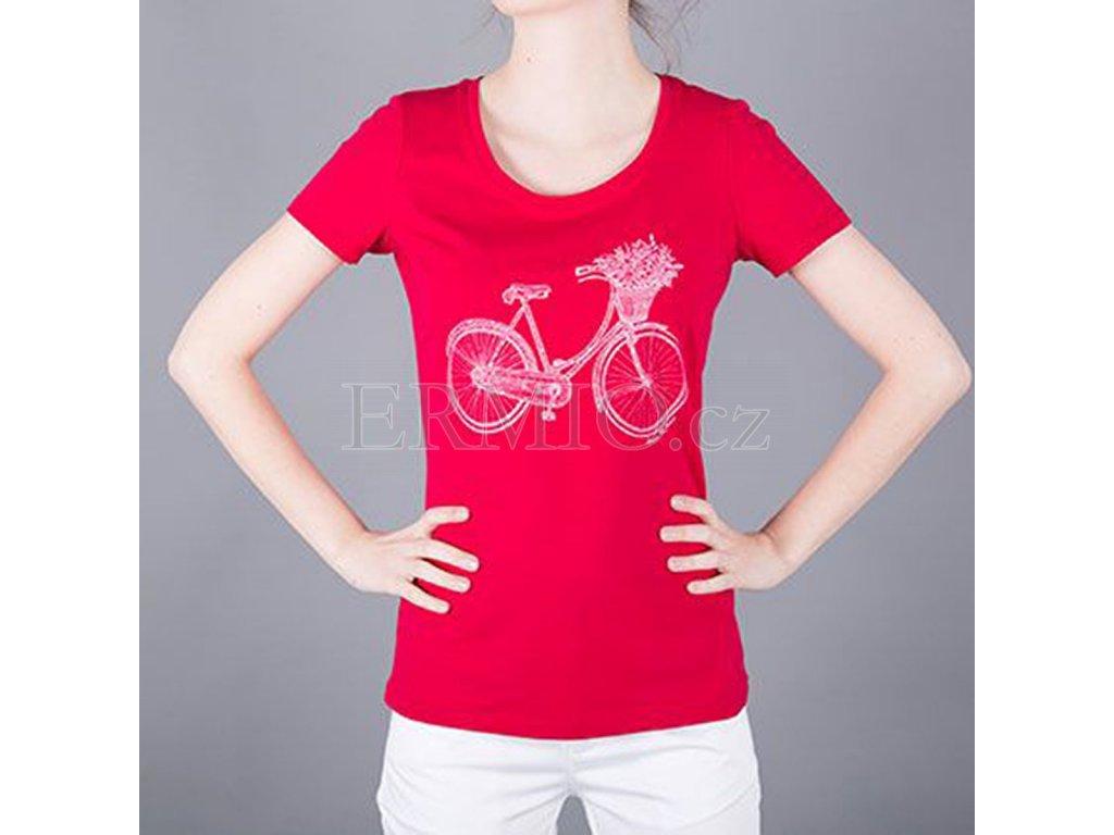 0fd08d3c8c21 Luxusní Tričko dámské AJ červené v e-shopu   Ermio Fashion
