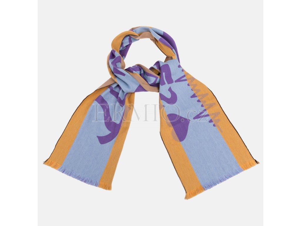 Trendová barevná dámská šála Vivienne Westwood
