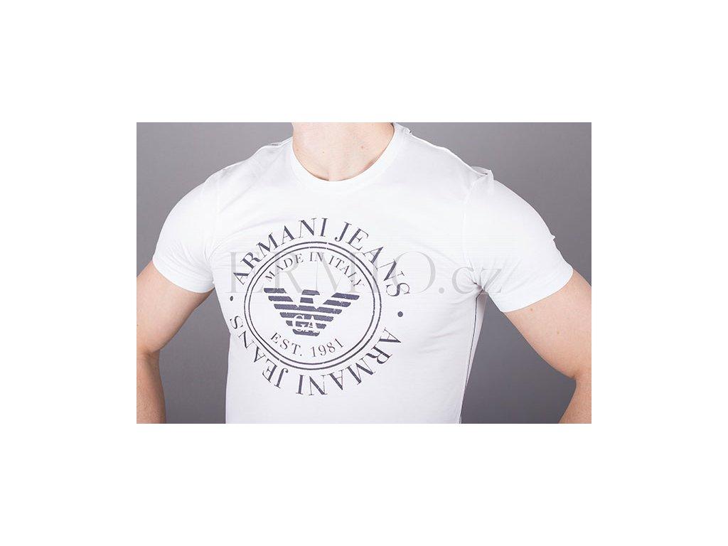 3545a0542e2c Luxusní Značkové pánské tričko Armani kulaté logo v e-shopu   Ermio ...