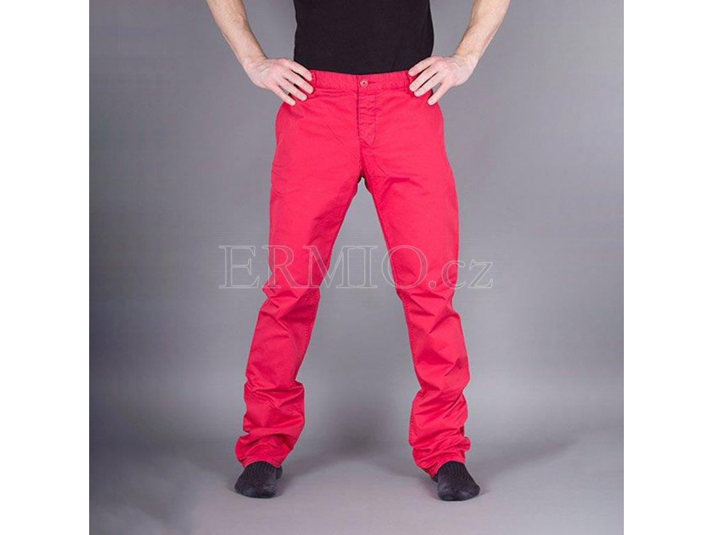 Luxusní Stylové pánské kalhoty Armani Jeans červené v e-shopu ... 685f300d8f