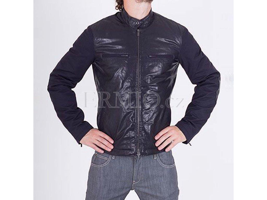 Bunda Armani Jeans kůže/textil
