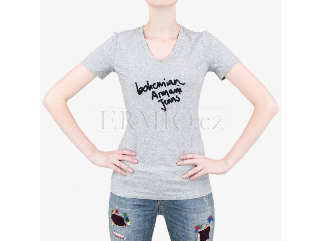 166471271a9 Luxusní Šedé tričko Armani Jeans v e-shopu   Ermio Fashion