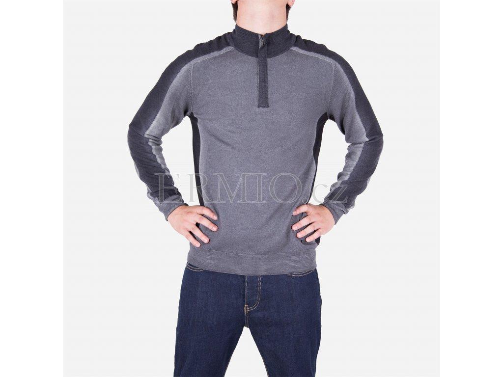 Pánský šedý svetr Armani Collezioni