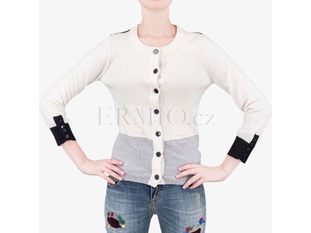 4e009f48f40 Luxusní Bílý svetr Armani Jeans v e-shopu   Ermio Fashion