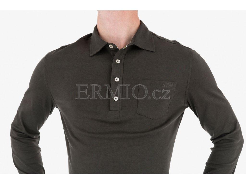 4367980e4fdb Luxusní Zelené polo Armani Jeans v e-shopu   Ermio Fashion
