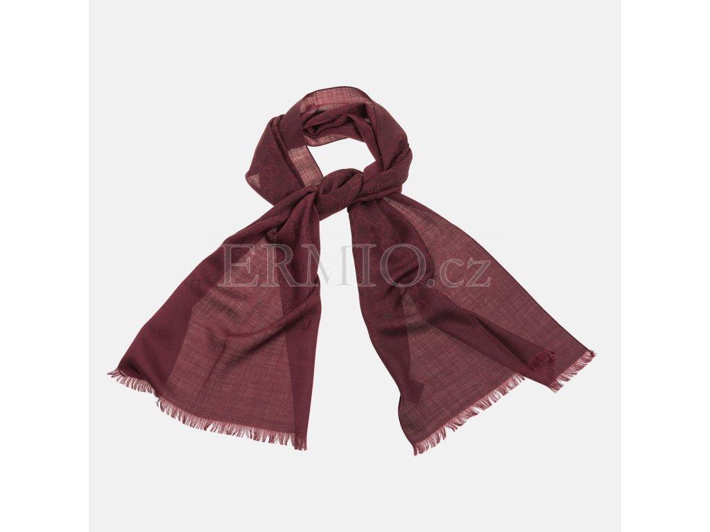 8fa2c3dab59 Luxusní Červeno-hnědá šála GUCCI v e-shopu   Ermio Fashion